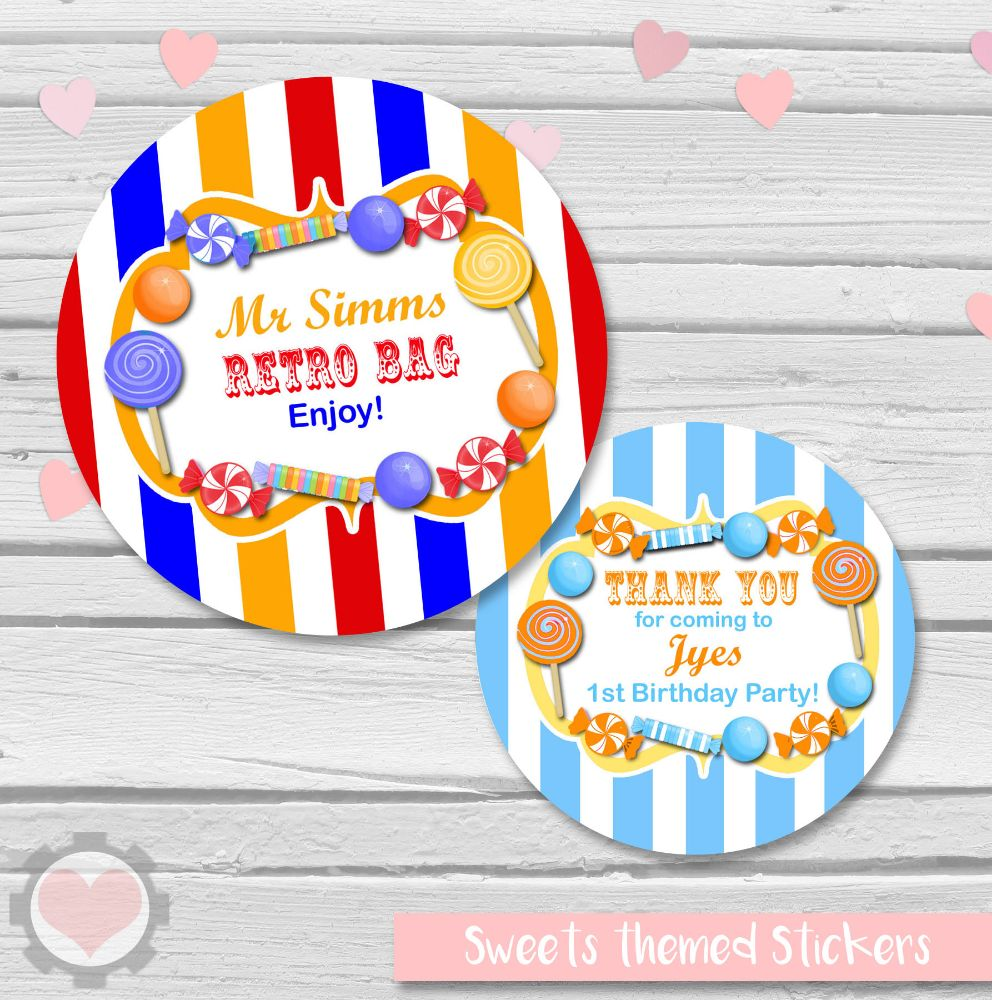 Candy Sweets Themed Stickers