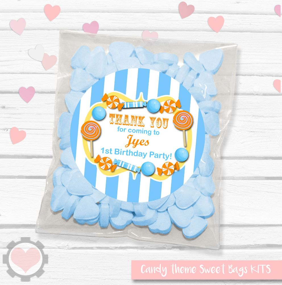 Sweets Candy Theme Favour Bag Kits
