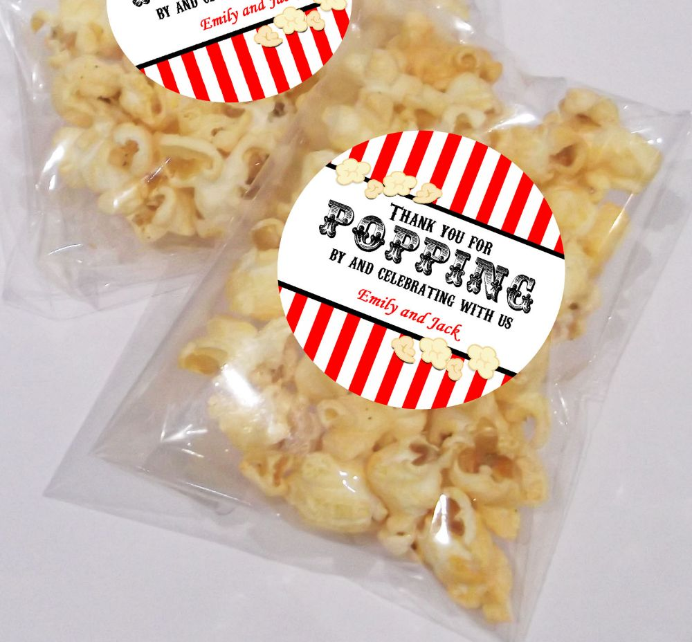 Wedding Day Popcorn Favour Bags