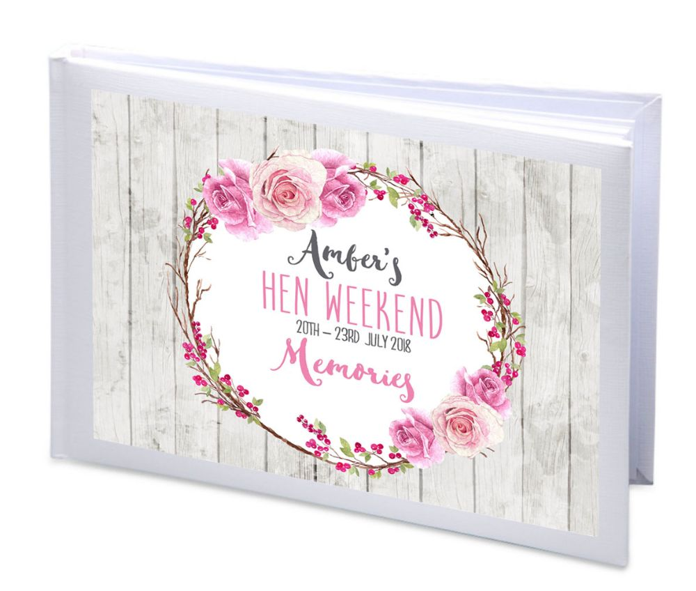 Personalised Hen Party Memory Photo Albums