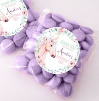 Floral Unicorn personalised BIRTHDAY party bags fillers sweet bags KITS x12