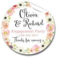 Jessica Florals Personalised Engagement Party Stickers 1xA4 sheet