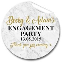 Marble Personalised Engagement Party Stickers 1xA4 sheet