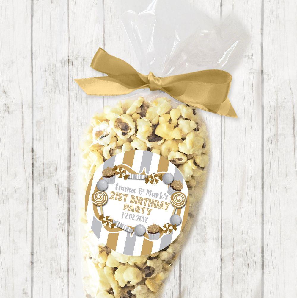 Adult Birthday Party Popcorn Cones Kits