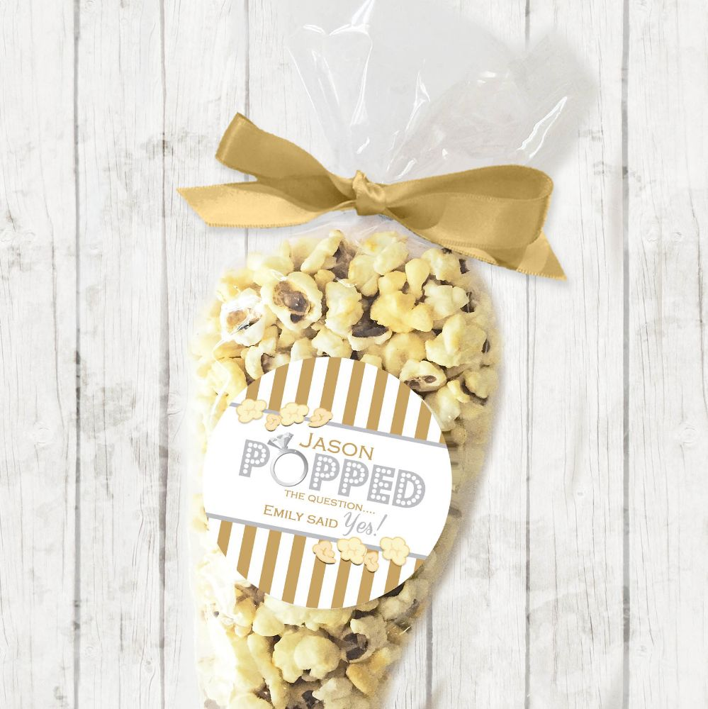 Engagement Party Popcorn Sweet Cones Kits