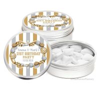 Candy Sweets Theme Personalised Birthday Party Favour Tins Keepsakes x1