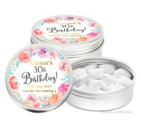 Emma Florals Personalised Birthday Party Favour Tins Keepsakes x1
