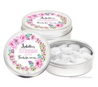 Isabella Forals Personalised Birthday Party Favour Tins Keepsakes x1