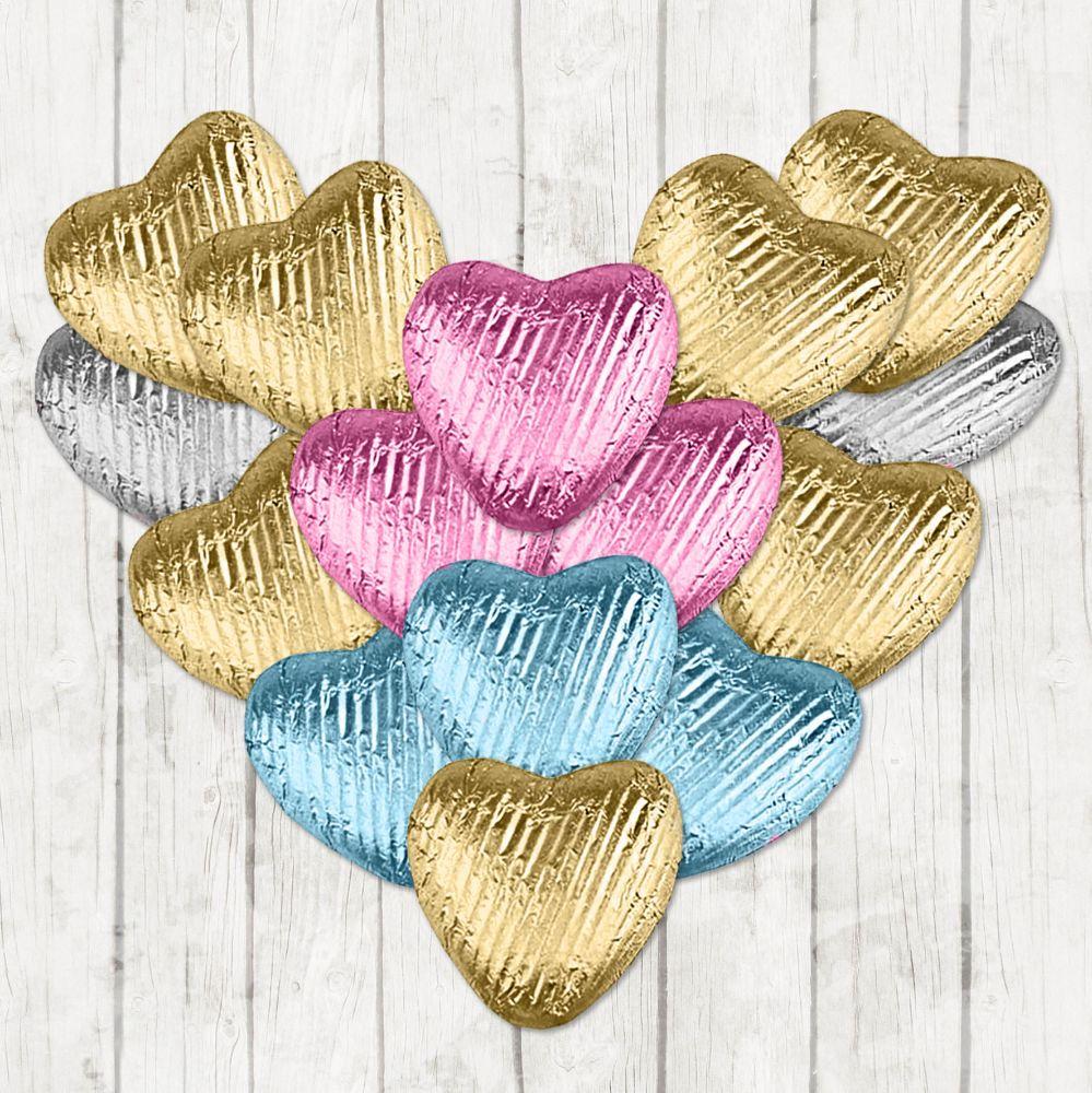 Foil Milk Chocolate Hearts