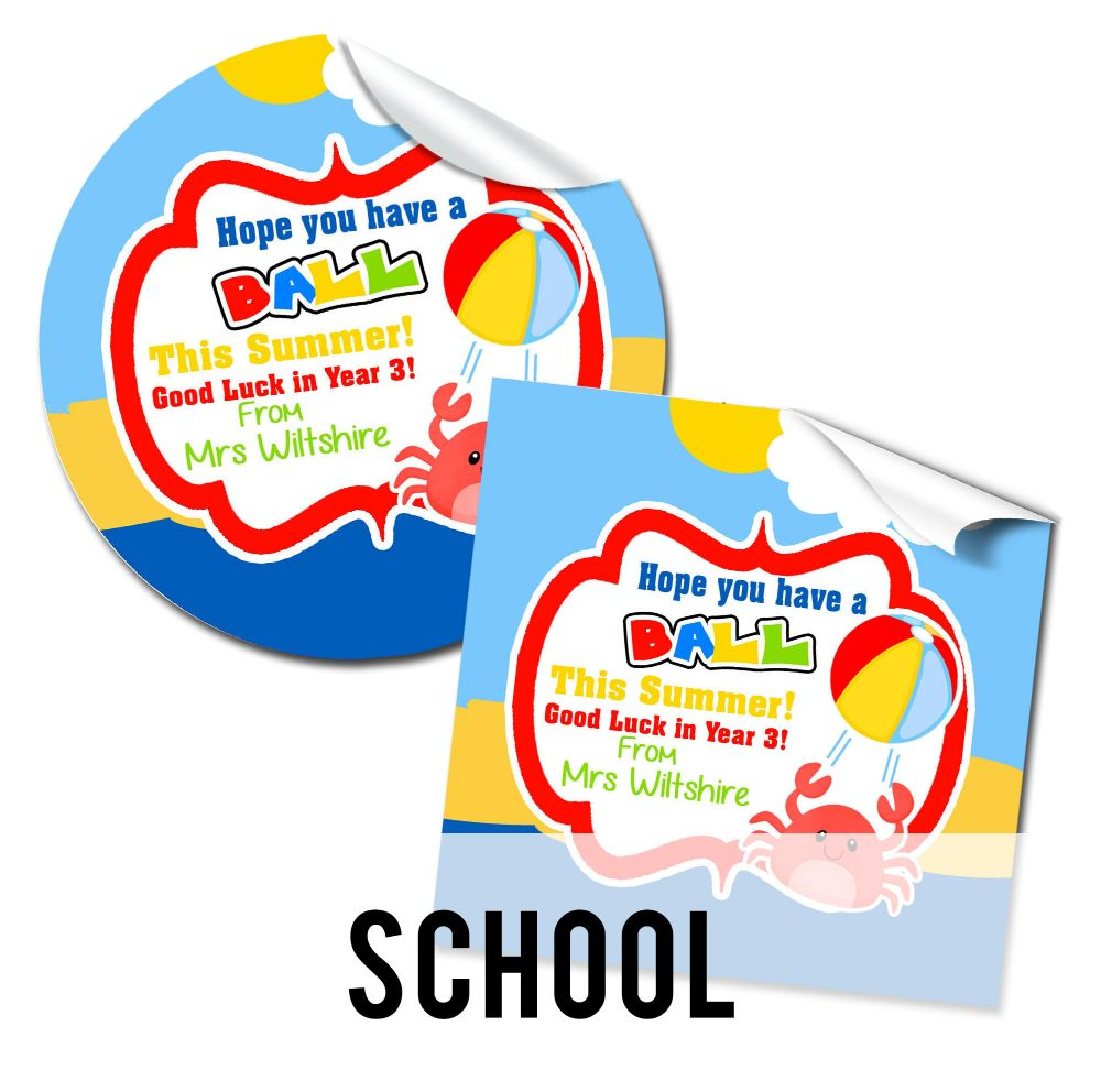 End of School Gift Stickers
