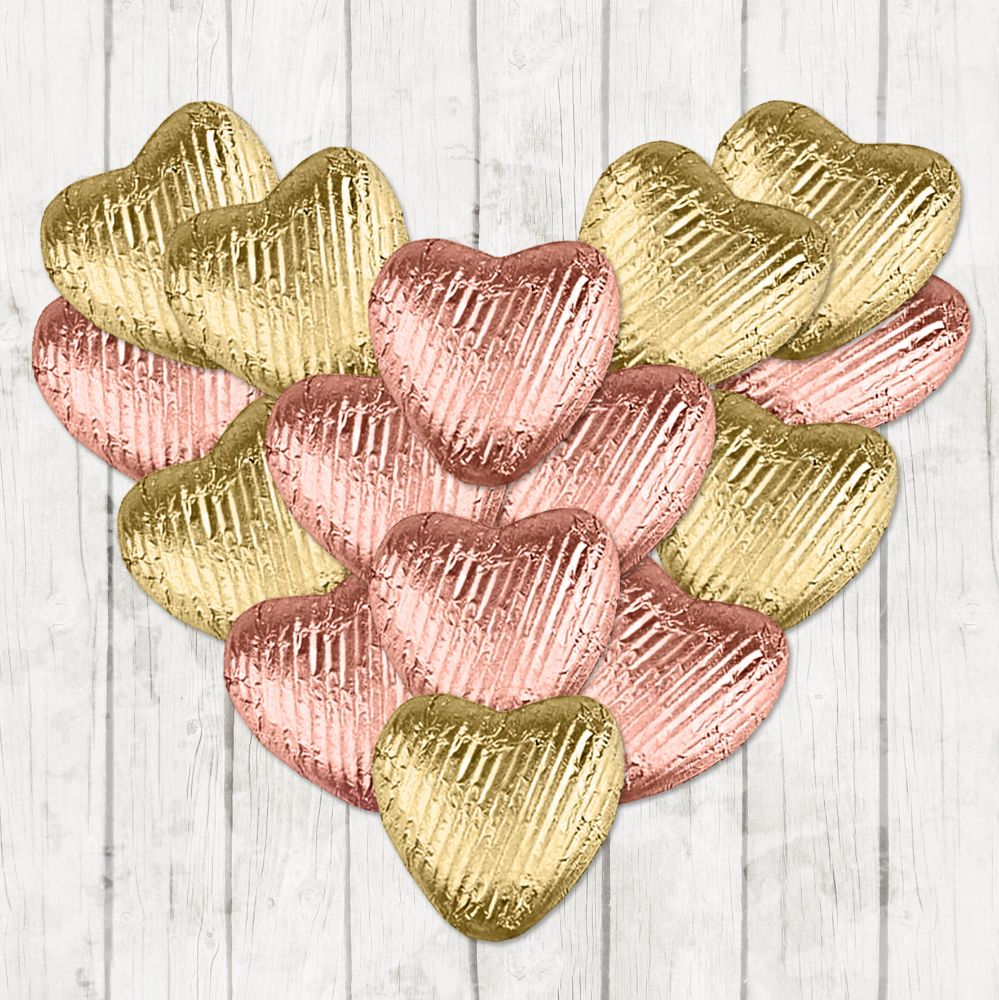 Milk Chocolate Hearts Favours