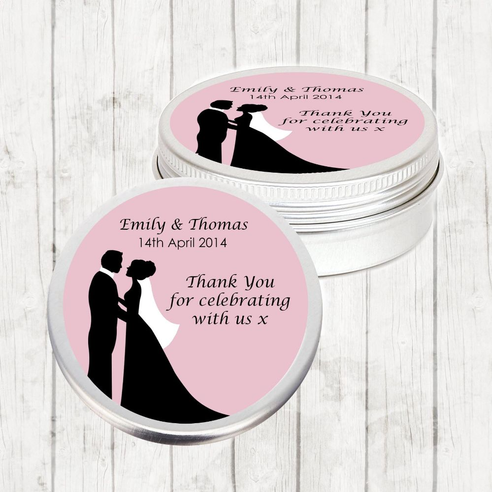 Personalised Wedding Favour Tins