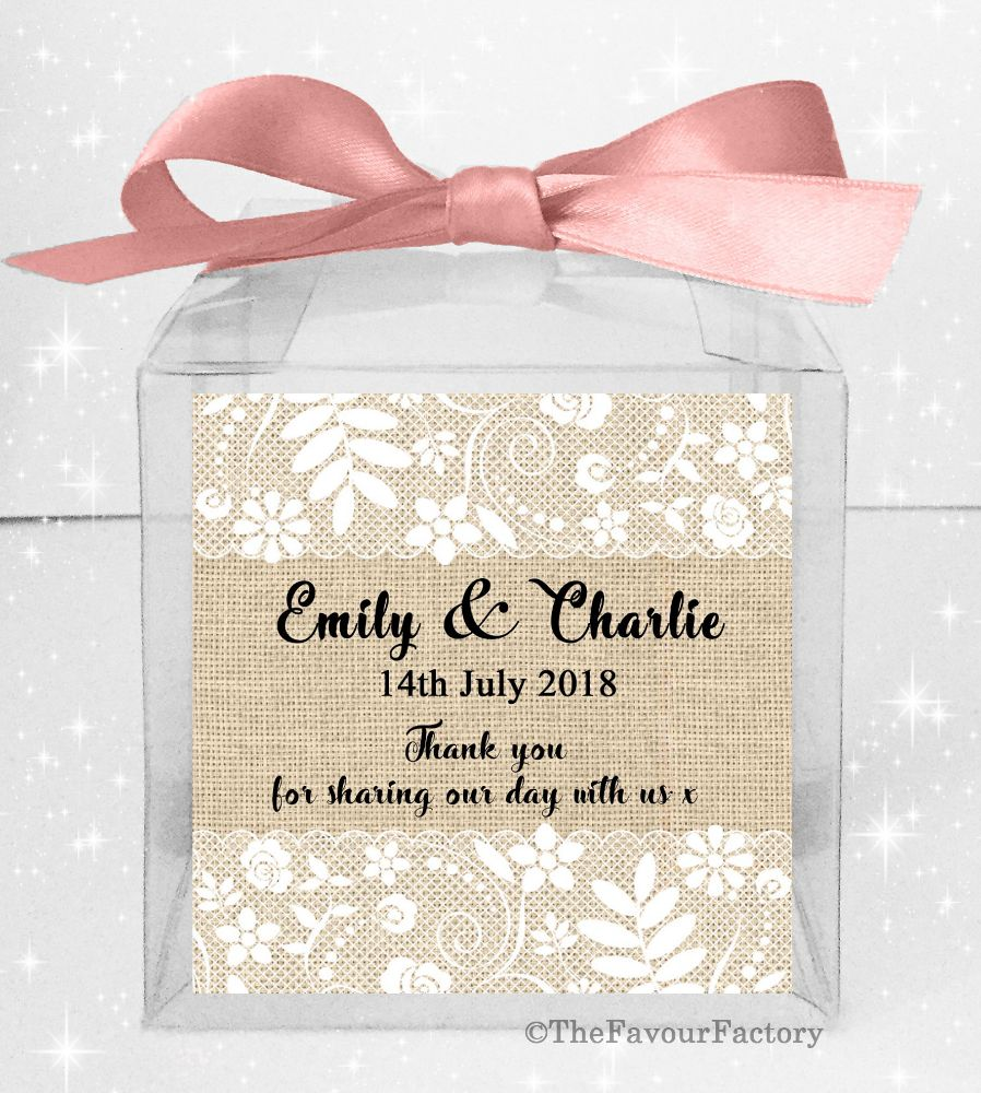 Personalised Wedding Favour Boxes Kits