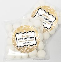 Bokeh Sparkles Personalised Birthday Party Sweet Bags & Stickers
