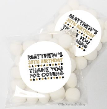 Dazzle Personalised Birthday Party Sweet Bags & Stickers