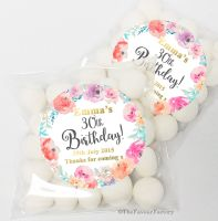 Emma Florals Personalised Birthday Party Sweet Bags & Stickers