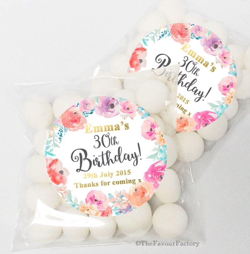 Personalised Birthday Party sweet bags KITS x12