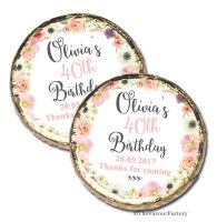 Jessica Florals Personalised Birthday Party Mint Chocolates Favours x10