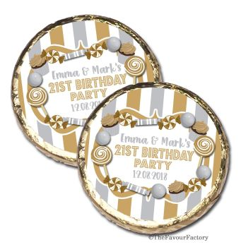 Candy sweets Personalised Birthday Party Mint Chocolates Favours x10