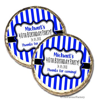 Stripes Personalised Birthday Party Mint Chocolates Favours x10