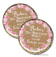 Kraft Florals Personalised Birthday Party Mint Chocolates Favours x10
