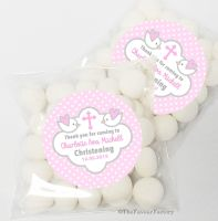 Doves Pink Christening Baptism Sweet Bags Favours Kits x12