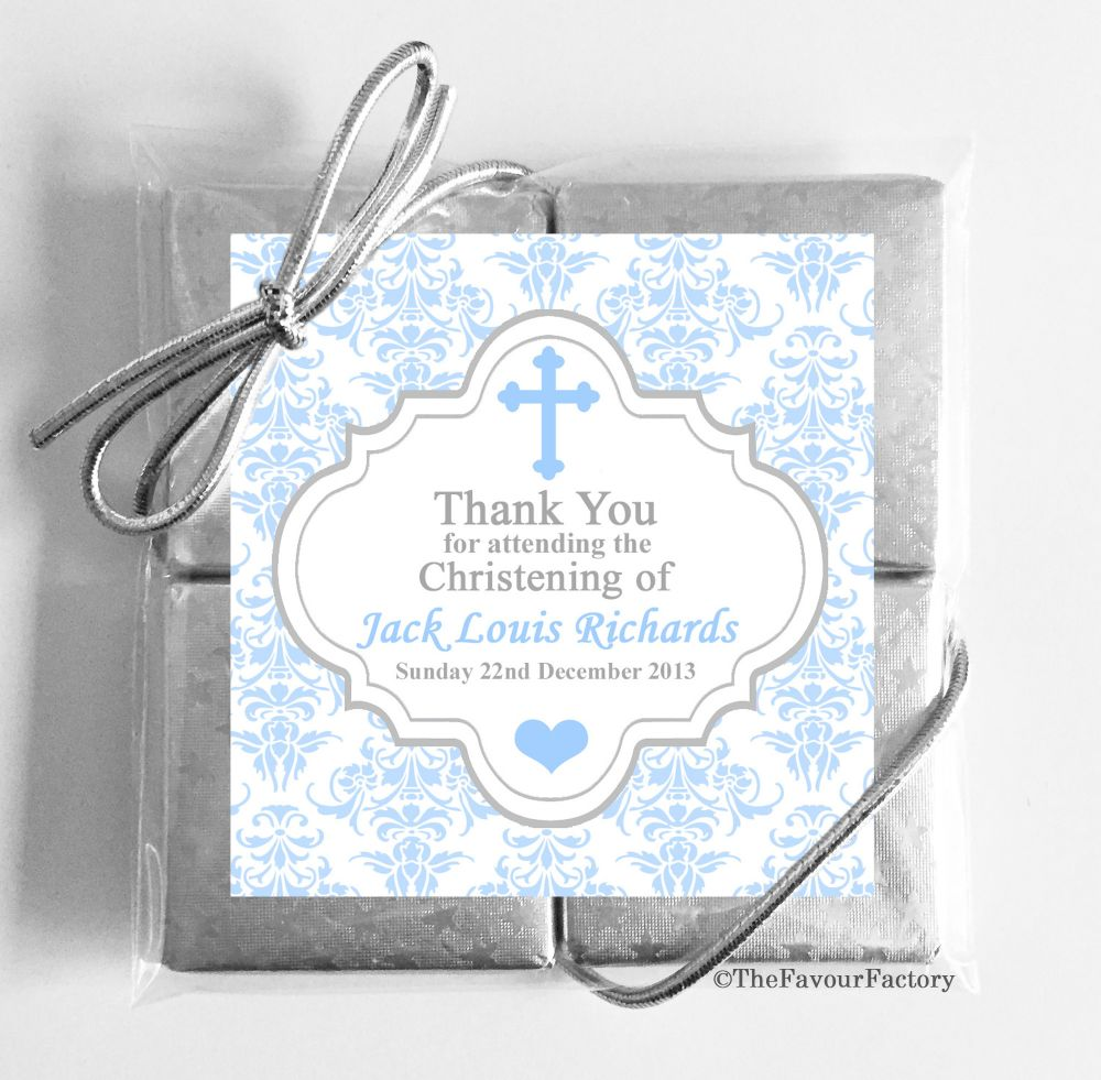 Christening Day Chocolate Quads Favours