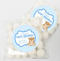 Teddy Bear Baby Shower Party Personalised favours Sweet Bags kits x12