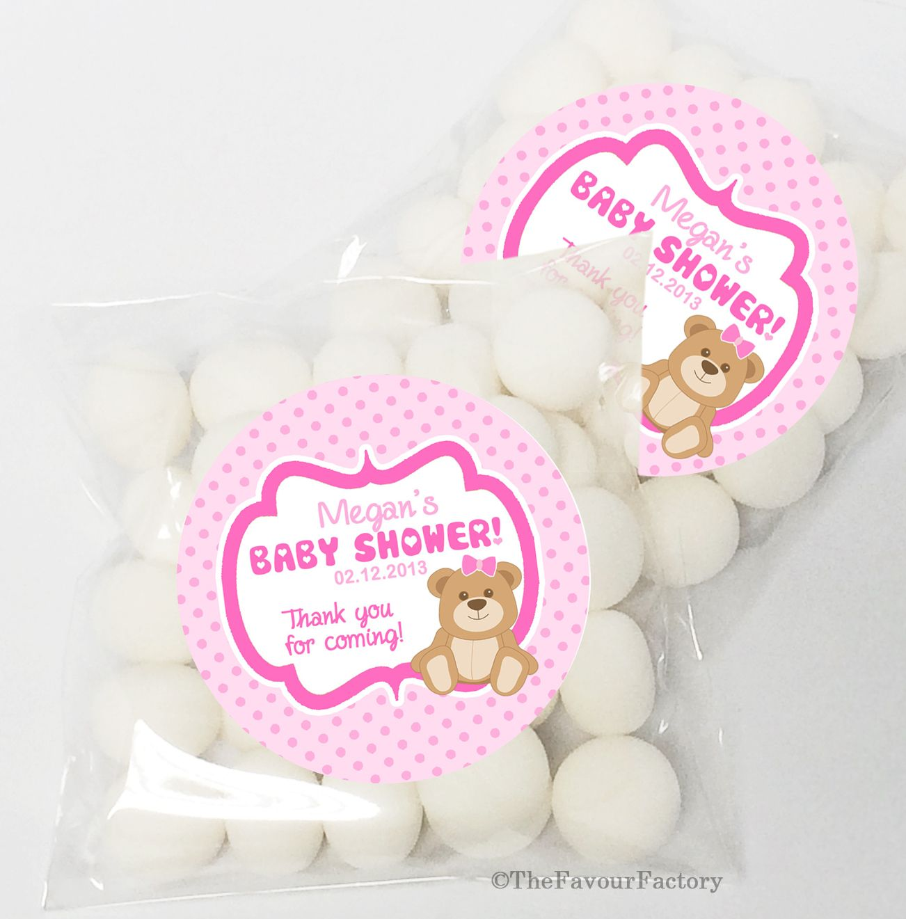 teddy bear in pink diy favours personalised sweet bag favours kits ...