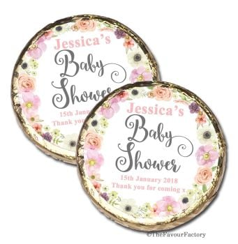 50x Jessica florals Personalised Baby Shower Party Favours Mint Chocolates