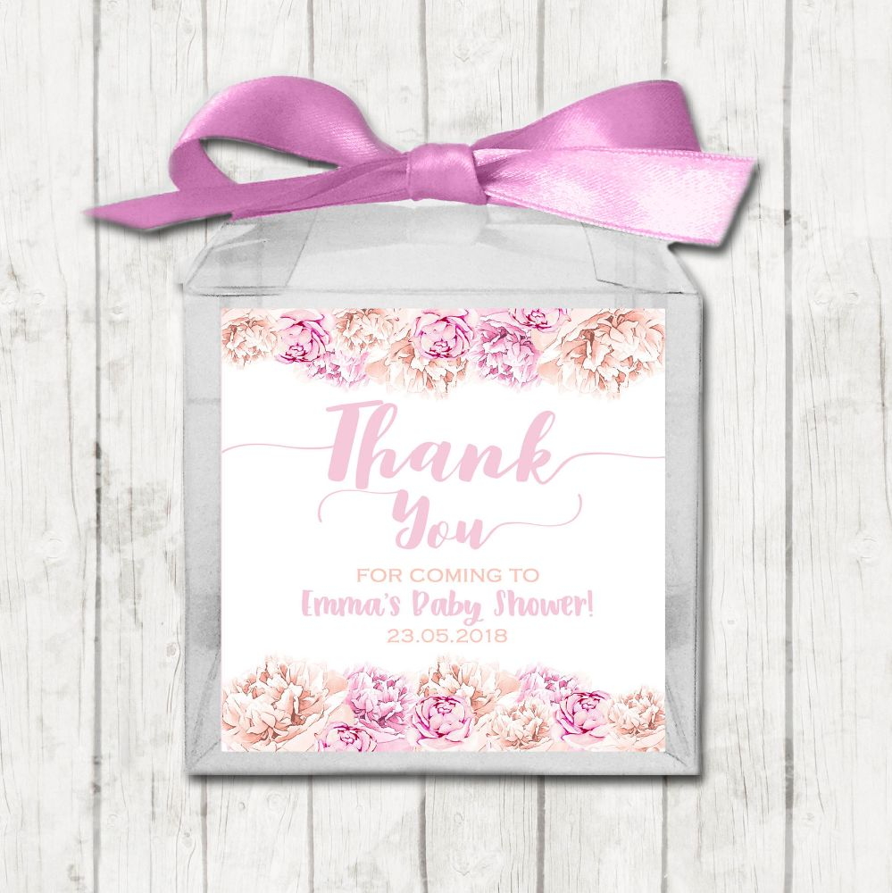 Personalised Baby Shower Party Favour Boxes