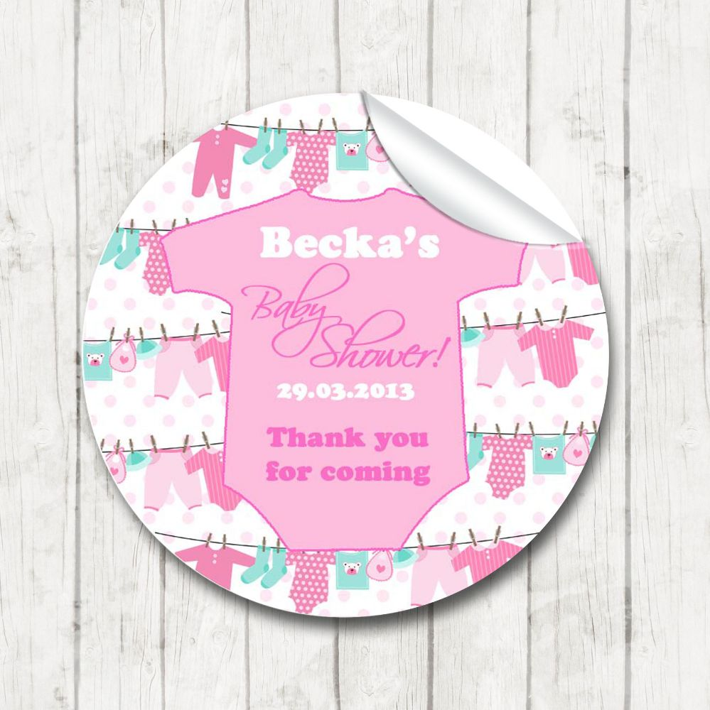 Baby shower Favour Stickers