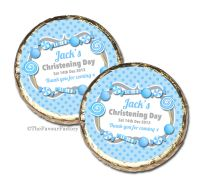 Candy Sweets Blue Christening Baptism Mint Chocolates Favours x10