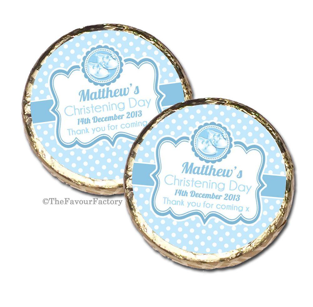 Christening Baptism Mint Chocolates Favours x10