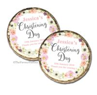 Jessica Florals Christening Baptism Mint Chocolates Favours x10