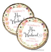 Jessica Florals Personalised Hen Party Mint Chocolates Party Bag Fillers x10