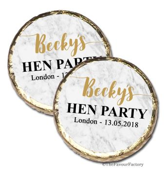 Marble Personalised Hen Party Mint Chocolates Party Bag Fillers x10
