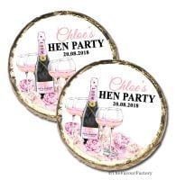 Champagne & Flowers Personalised Hen Party Mint Chocolates Party Bag Fillers x10
