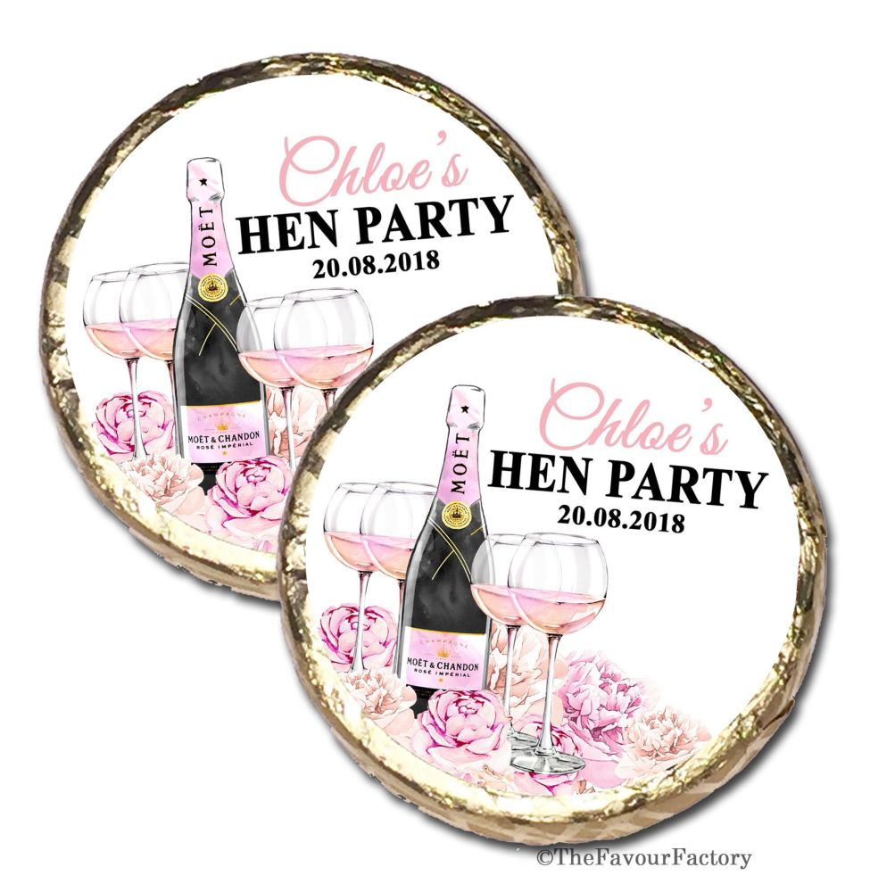 Personalised Hen Party Mint Chocolates Party Bag Fillers x10