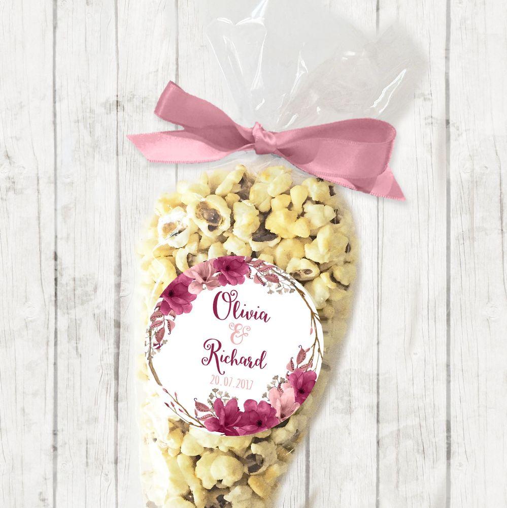 Personalised Wedding Popcorn Favour Kits