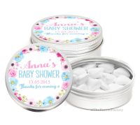 Anna Florals Personalised Baby Shower Party Favour Tins Keepsakes x1