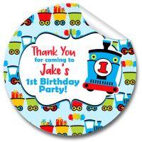 Choo Choo Train Personalised Birthday Party Stickers