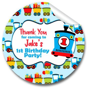 Choo Choo Train Personalised Birthday Party Stickers