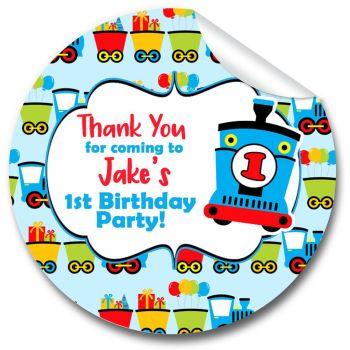Choo Choo Train Kids Birthday Party Stickers