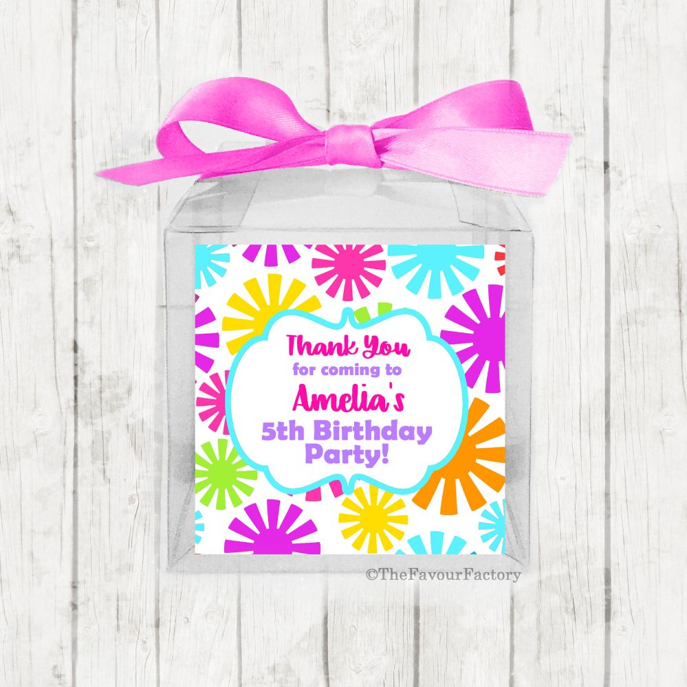 Children's Birthday Party Sweet Boxes