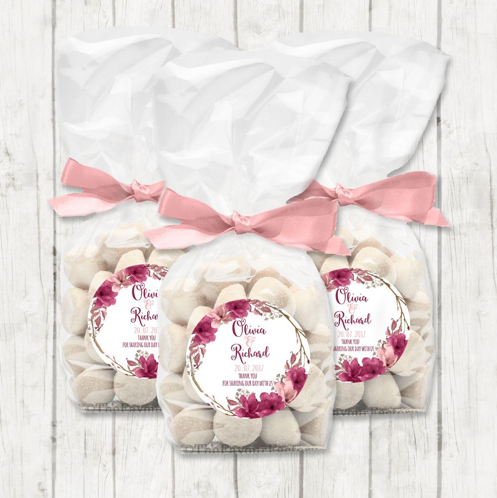 Personalised Wedding Day Favours and Stickers