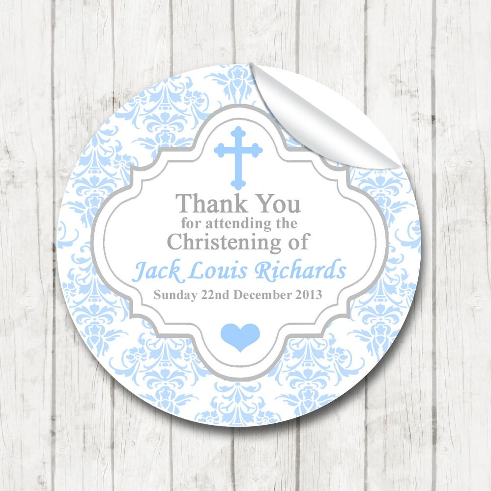 Christening Stickers