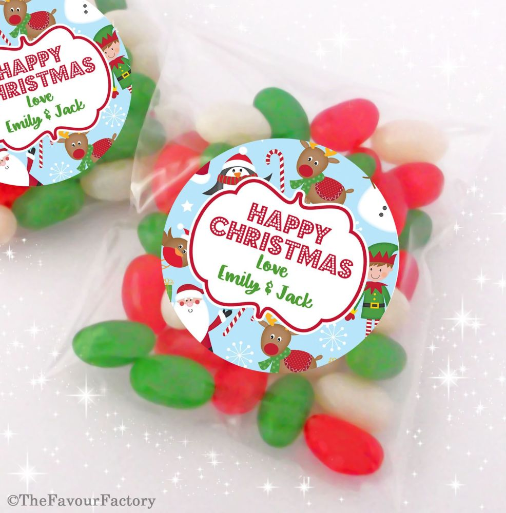 Bright Trees Personalised Christmas Sweet Bags Favours Stocking Fillers x12