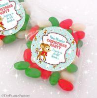 Vintage Reindeer Personalised Christmas Sweet Bags Table Favours Stocking Fillers x12