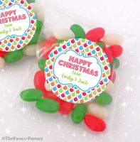 Bright Baubles Personalised Christmas Sweet Bags Table Favours Stocking Fillers x12